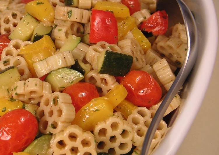 Step-by-Step Guide to Make Quick Perfect For A Potluck: Pasta Salad with Grilled Vegetables