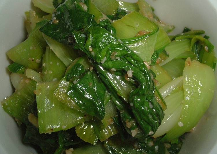 Easy and Tasty Bok Choy Namul