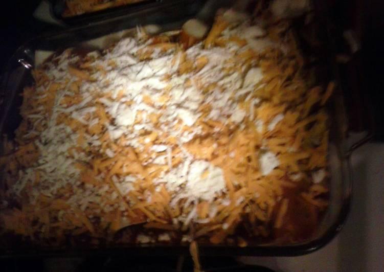 5 Minute Recipe of Quick Brad's roasted pork enchiladas