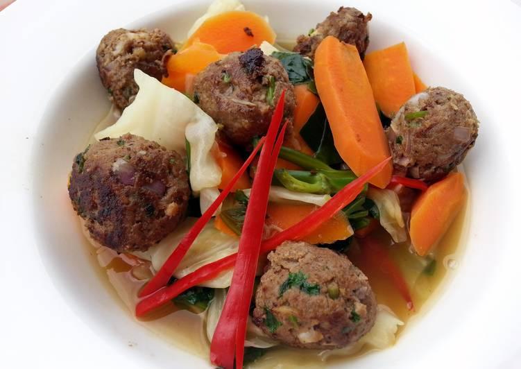 Lamb Kofta Meatball With Vegetables