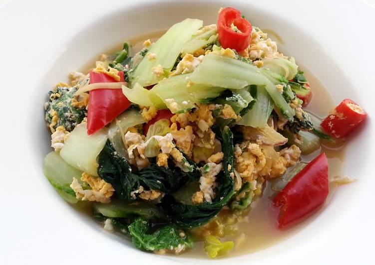 Spicy Bak Choy With Eggs