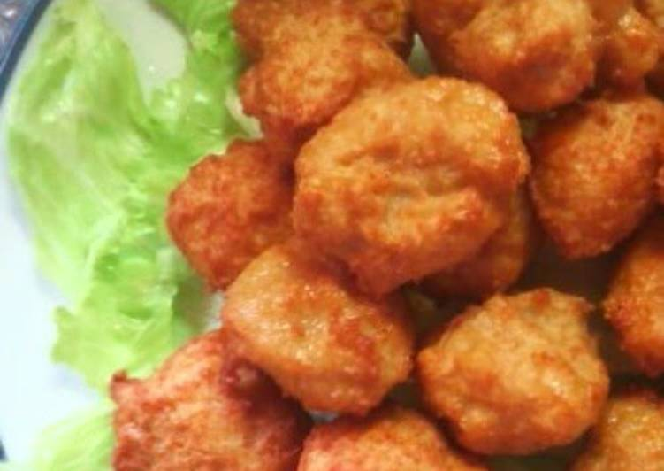 Recipe: Appetizing Easy and Economical Karaage-kun Made from Ground Chicken and Tofu
