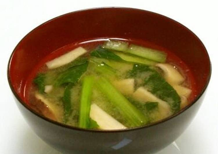 Miso Soup with Komatsuna and King Oyster Mushroom, Are Superfoods In truth As Good As They are Made Out To Be?