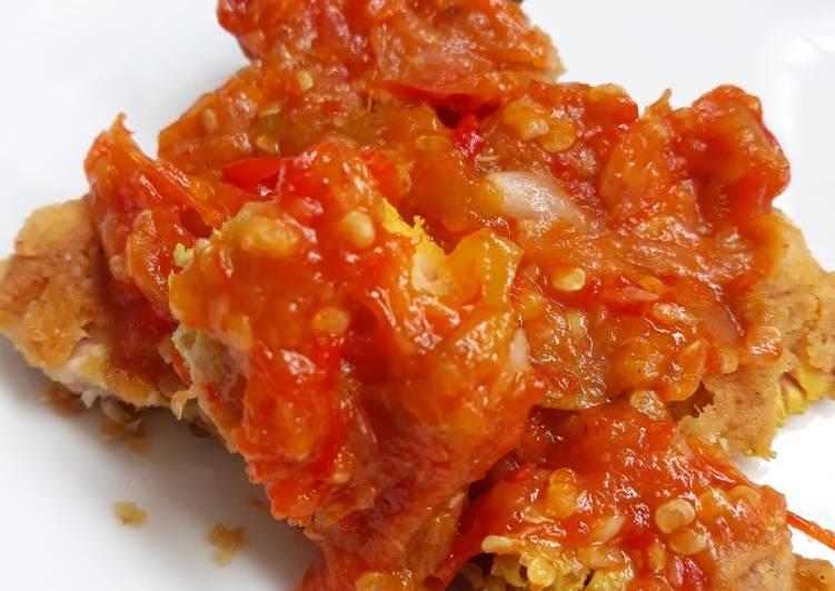 Ayam Geprek Ungkep Sambal Tomat ala Ibuk #Agust7