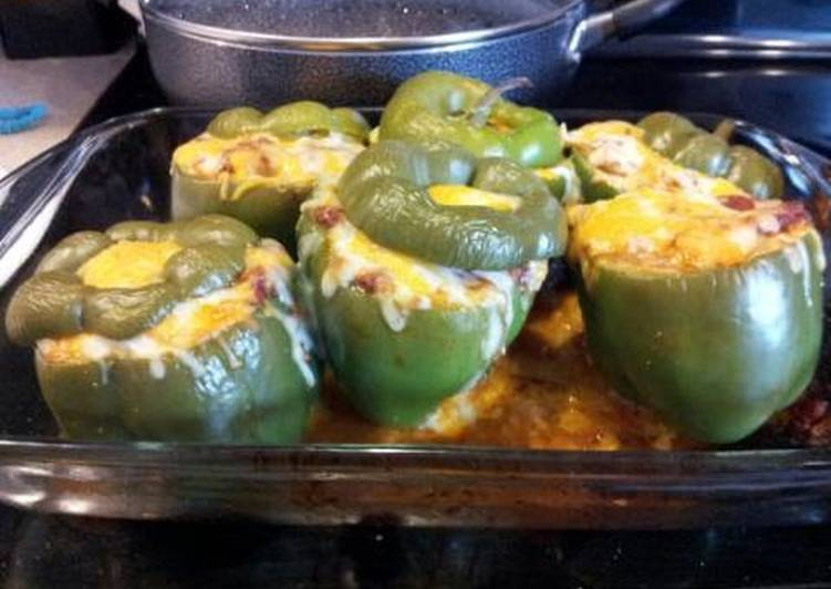 Stuffed Green Bell Peppers - Laurie G Edwards