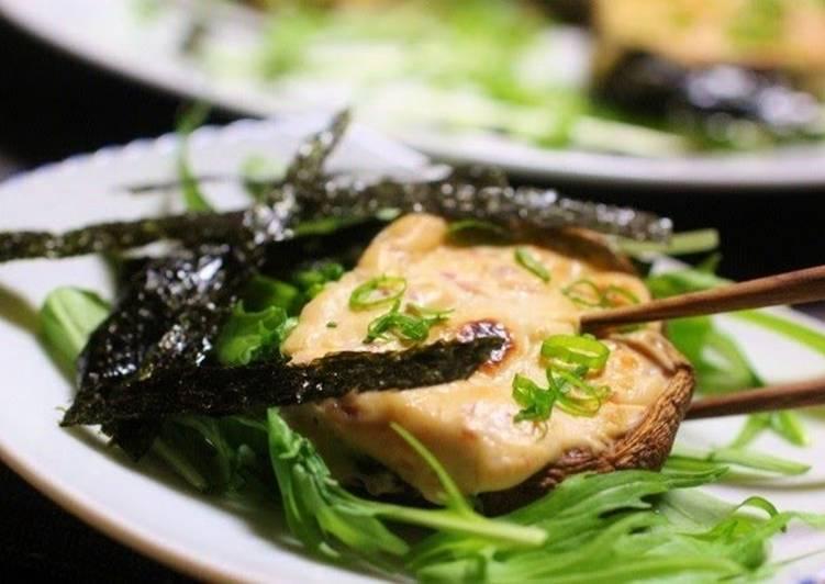 Baked Japanese-Style Shiitake Mushrooms and Cream Cheese