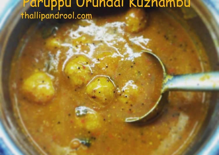 Simple Way to Prepare Perfect Paruppu Urundai Kuzhambu