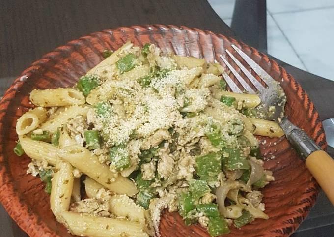 Moutush's pasta pesto