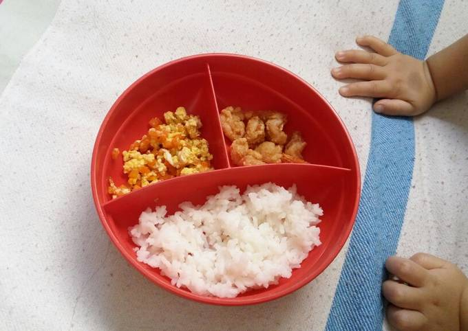 Resep Mpasi 13 Bulan Nasi Orak Arik Telur Udang Oleh Stephani Cookpad