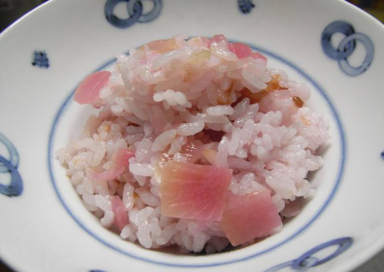 Cherry Blossom Rice Made with Crimson Daikon Radish Core - Laurie G Edwards