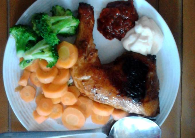 homemade grilled chicken