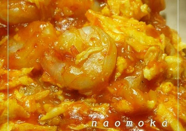 Fluffy and Yummy Shrimp Chili Sauce and Egg