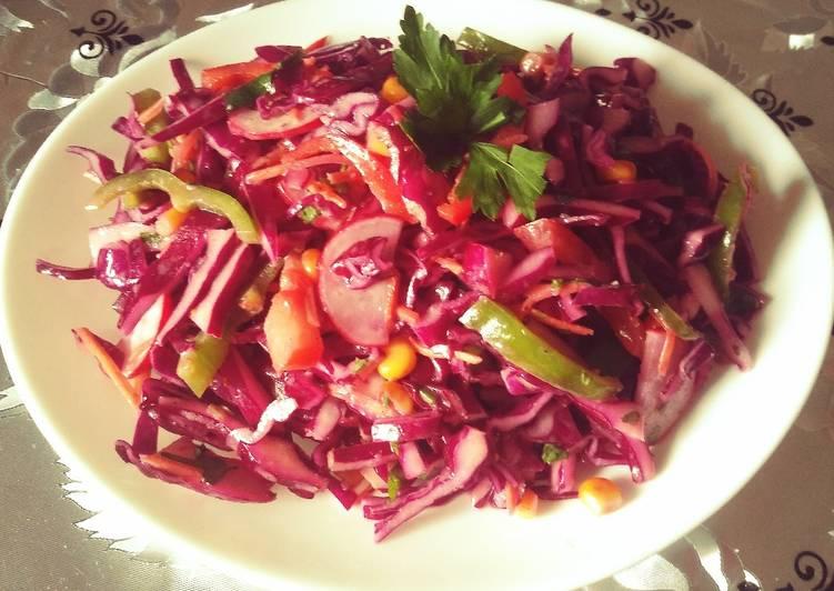 La Meilleur Recette De Salade de choux rouge
