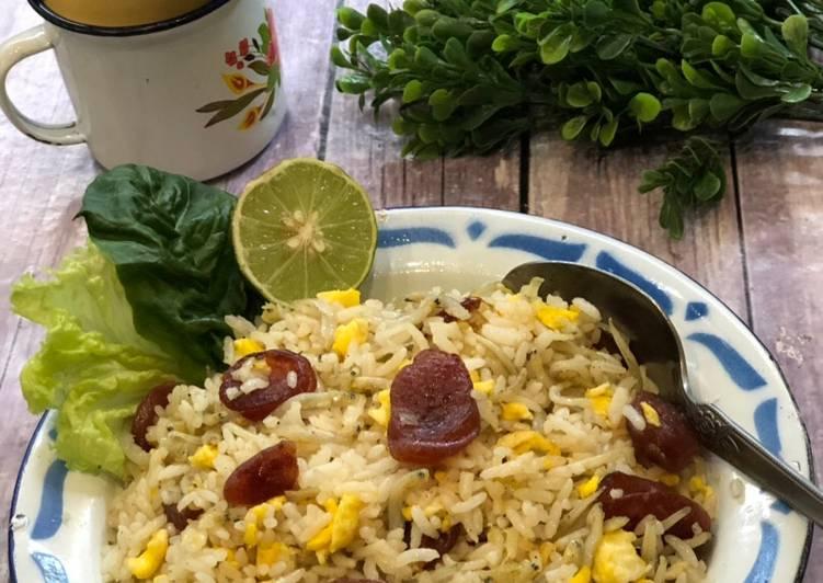 Nasi Goreng Teri Lapciong (sosis B2) ala Tiger Kitchen