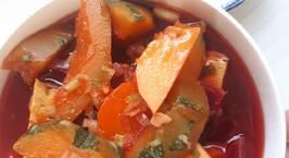 Hình ảnh món Canh rau củ nấu chả lụa chay