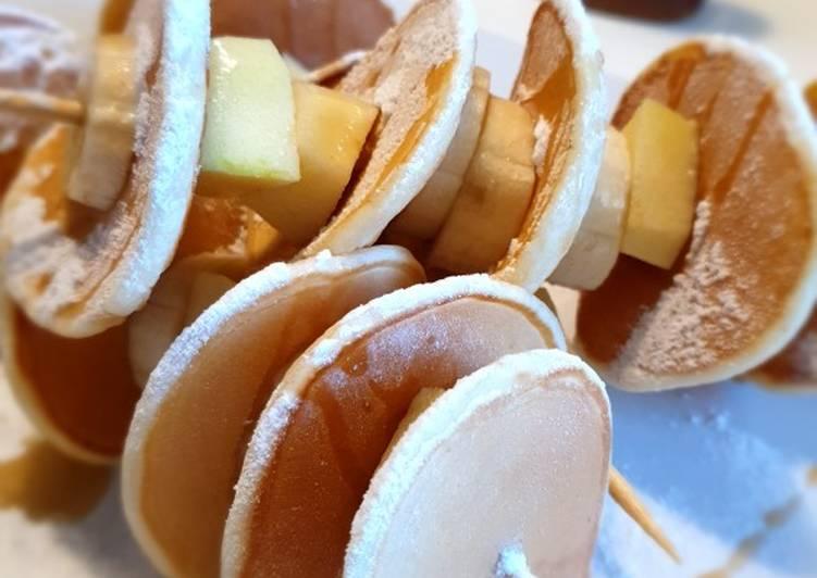 Spiedini di mini Pancakes con Frutta 🥞