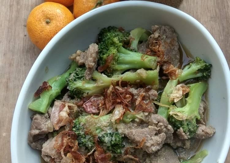 Tumis daging brokoli