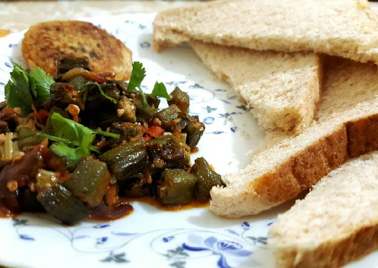 Recipe of Award-winning Okra gumbo with chicken nugget and wholemeal bread☺