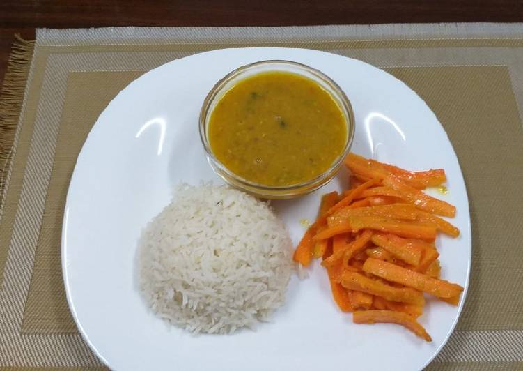 Step-by-Step Guide to Make Super Quick Homemade Red Lentils n Rice#indian dish contest