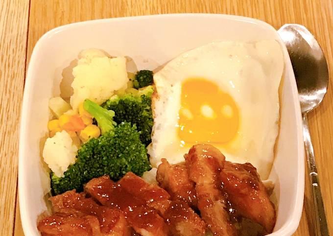 Honey-glazed char siu rice bowl