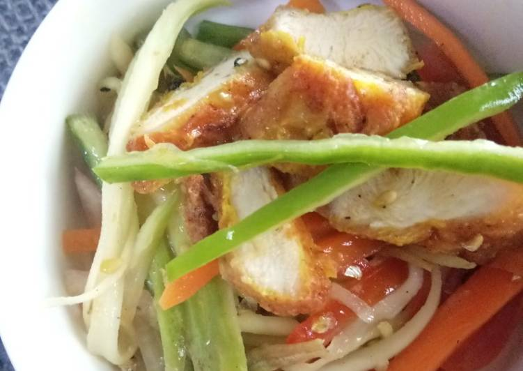 Kerabu Mangga dan Ayam - velavinkabakery.com