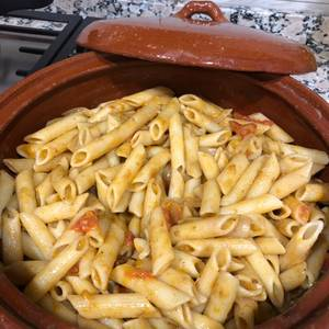 Pasta con salsa de rabo de toro