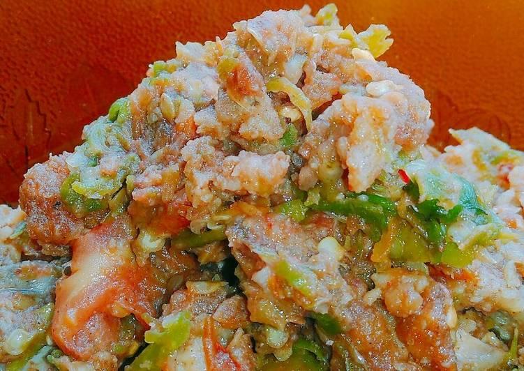 Ayam geprek lumat (simpel)