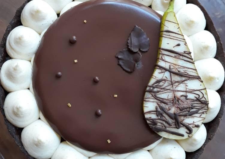 ☆Tarte Poires Choco☆
