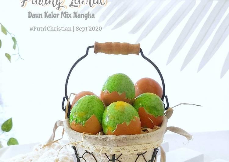 Puding lumut daun kelor mix nangka