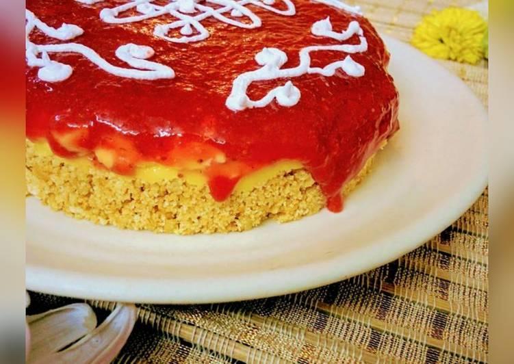 Banoffee Pie - Strawberry and Rangoli twist #FIHRCookPadContest