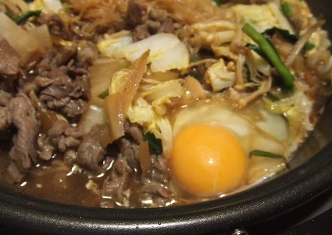 Easy Kansai-style Sukiyaki and with Udon