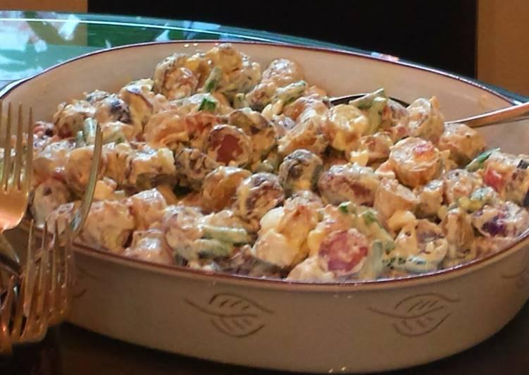 Smoked potato salad nicoise