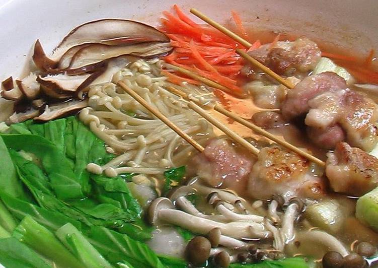 Easiest Way to Cook Delicious Jibuni-style Hot Pot with Thick Broth