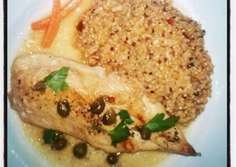 Chicken Piccata and Quinoa