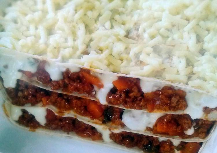 Mountain bread Lasagne - Healthy alternative...