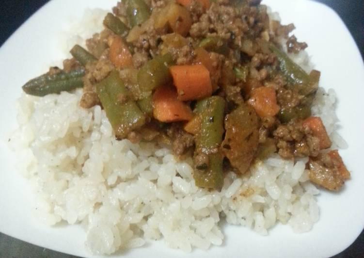 Grandmother's Dinner Easy Love Egyptian white rice, simple recipe
