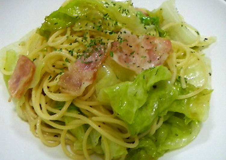Easy Lettuce and Bacon Pasta with Yuzu Pepper
