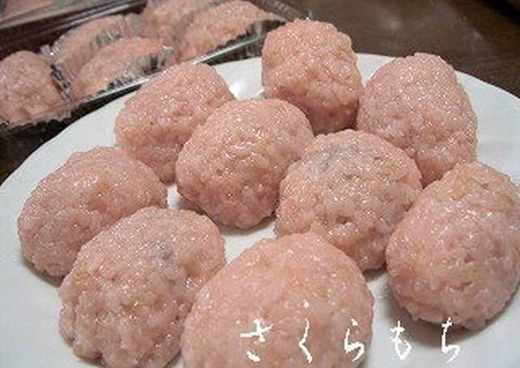 Recipe of Super Quick Homemade Sakura Mochi with a Rice Cooker