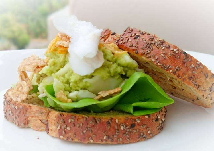 Simple Way to Make Super Quick Homemade Avocado and Coconut Diet Brunch Sandwich /DAY 5