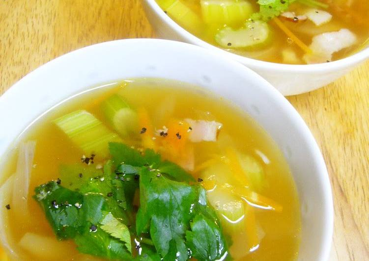 Step-by-Step Guide to Prepare Homemade Comforting Celery and Bacon Soup