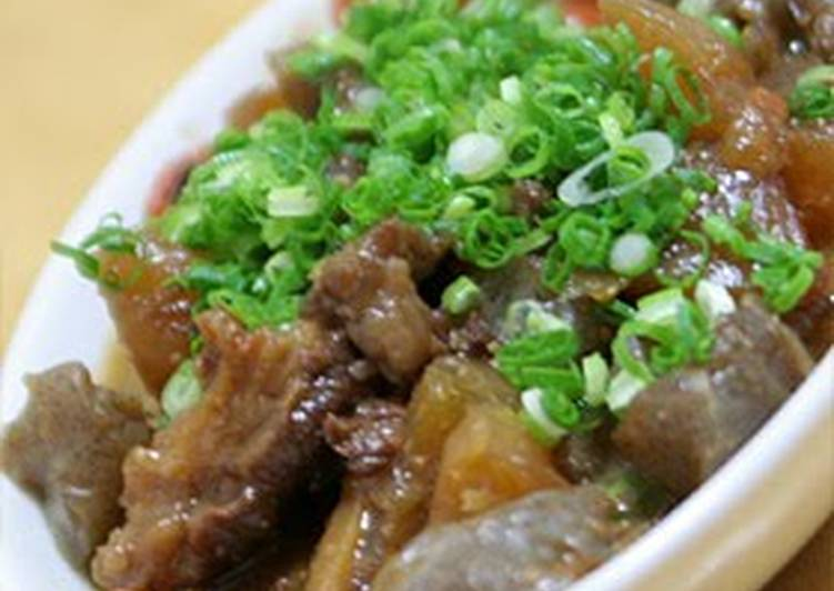 5 Minute Recipe of Ultimate Doteyaki - Beef Tendons and Daikon Radish Simmered With Miso
