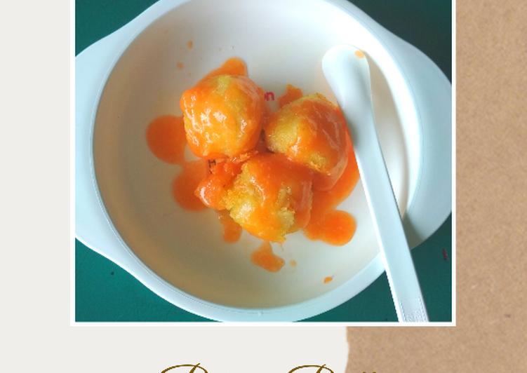 MPASI 9m+ Potato Balls with Tomato Sauce