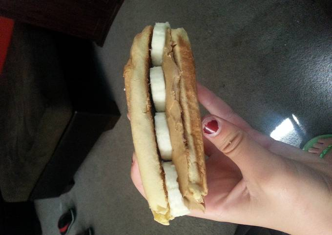 Peanut butter and banana mini sub great for camping
