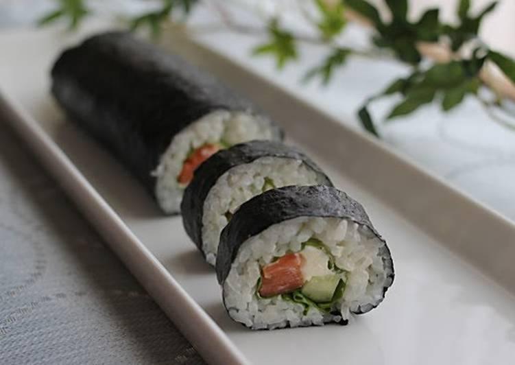 Good for Setsubun Salmon and Cream Cheese Nori-maki Sushi