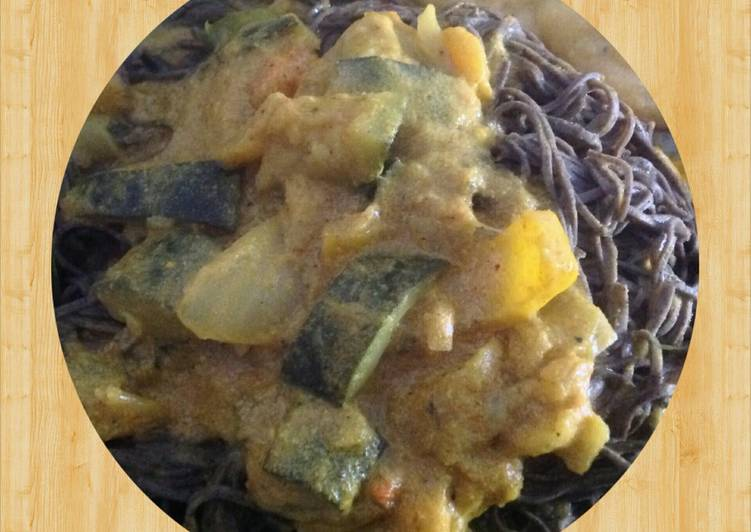 Veggie Curry over Black Bean Spaghetti Choosing Fast Food That's Fine For You