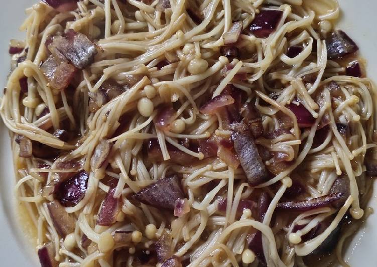 Steps to Make Homemade Sauteed Thread Mushroom