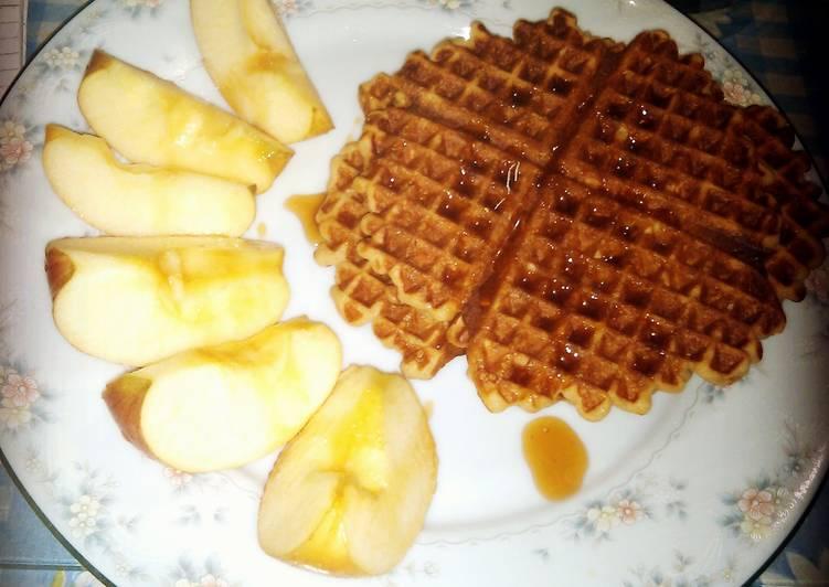 Whole oatmeal waffles
