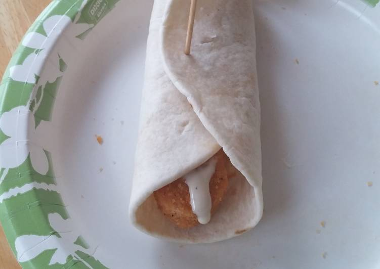 Cheesy ranch nugget wraps
