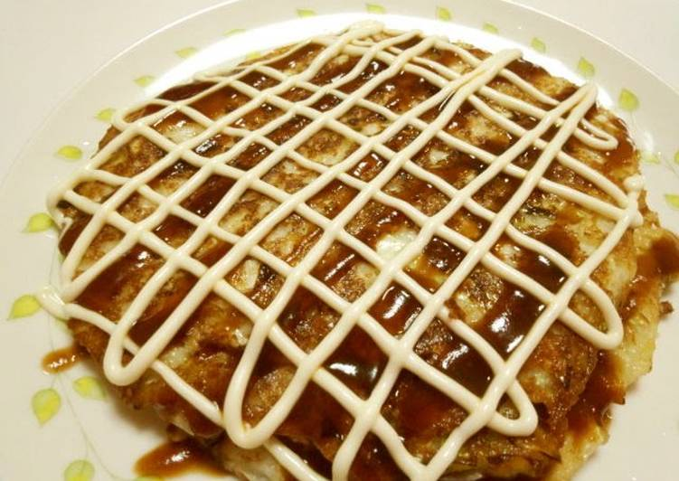 Simple Way to Make Quick Vegetarian-Friendly ♪ Yamaimo Okonomiyaki
