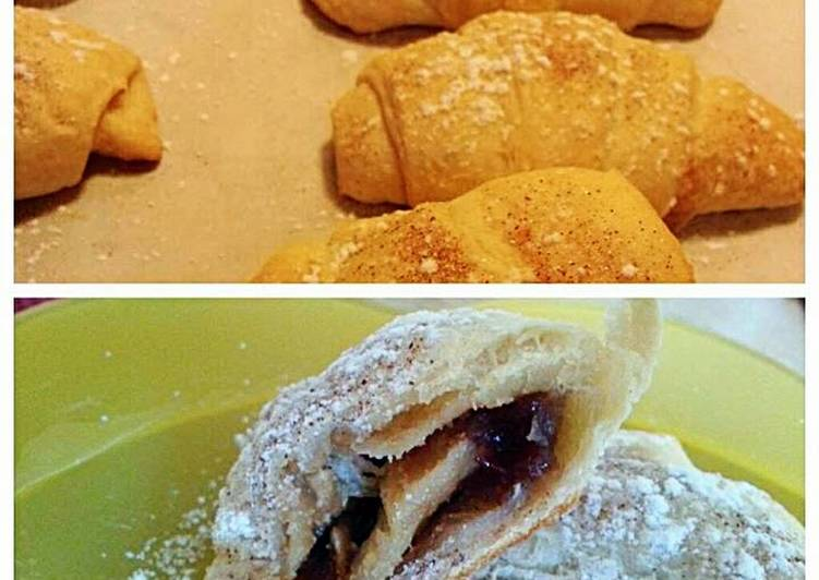 Steps to Prepare Quick ~PB & J Crescent Rolls~